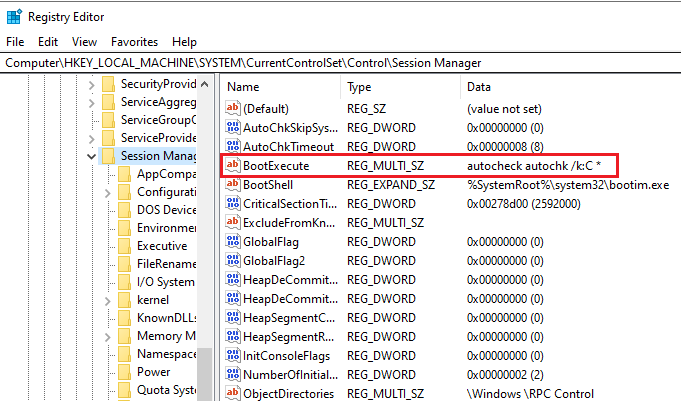 How to Cancel CHKDSK on Startup in Windows Using Registry Editor