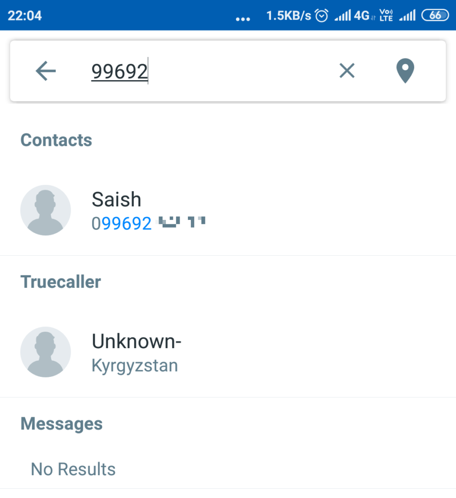 inside the search box type in the mobile number about whose phone details you want to find out | how to know unknown mobile number details online