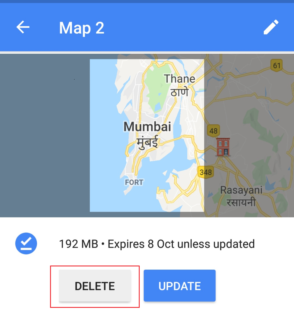 If you want to check how much space offline maps have consumed then open Google Maps and choose Offline maps. Now it will show a list of different offline maps and the amount of storage space it consumes. how to delete hidden files on android phone